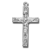 Rosary parts to make rosaries crucifixes rosary making suppliesArt Deco Style Sterling Silver High Polished Crucifix