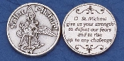 St. Michael Pocket Token Catholic Coins Silver Plated-Italy