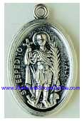 "St Espedito Saint Expedite Medal 1"" oval Expedit Styles Vary"