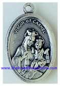 Inexpensive Silver Oxidized Medals Virgin Mary, Miraculous, Lady of Stella Maris, Sea, Prompt Succor,San Juan de los Lagos,Mystical Rose,sorrows,Guadalupe,Knock,Fatima,Montserrat,Loreto,Madonna of the Streets