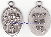 4 Way Cross Silver Oxidized Four Way Cross Medal Medallions 1""