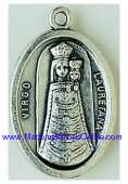 Loreto Silver Oxidized Lady of Loretto Medal Virgo Lauretana
