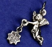 Miniature medals saint Complete Line of Catholic patron Saint medals For making Bracelets, Tiny Charm Bracelet parts, Crosses, Bracelet Crucifixes 100's of styles LOW LOW prices Made in Italy