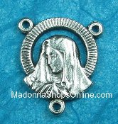 Radiant Lady of Sorrows /SHJ on Back Center 1.7cm Rosary Parts