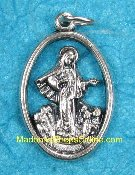 Medugorje CUT OUT Lady of Medugorje Medal Charm 1""