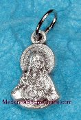 TINY Beautiful Scapular Charm Silver oxidized Italy 1.5cm
