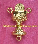 "Dazzling Chalice Center Piece Brilliant Gold Plated 3/4"" Italy"