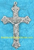 Rosary Crucifixes imported from Italy Rosary Parts Silver metal Finished in Silver Oxidized Over 200 Styles Great for making rosaries and bracelets largest Catholic Rosary Supply Company Most Mfg in Italy