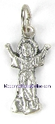 TINY Divine Child medals Silver Oxidized Pendant Italy 2.5cm