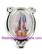 Color Picture Rosary Center Miraculous H-2.7cm Rosary Parts