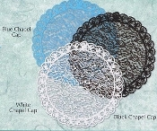 Mantillia Chapel Caps Veils Black, Blue, White lace Prayer cap- Styles round oval Triangle like shape with Lace edges Catholic Mass veils Latin mass small and large sizes wear on top of head pieces