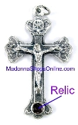 Made in Rome-This Crucifix can be touch to the bone of Saint Paul of the Crucifix first class relic-Crucifix Charms, Necklace-Includes jump ring-Rosary Crucifixes-Crucifix to make rosaries-ROMA Terra Catacumba