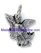 Saint Michael the Archangel Small Charm to make Rosary Bracelets Imported from Italy Rosary parts or necklace Beautiful intricate designs Fine detailed Silver metal of Saint Michael Catholic Medals