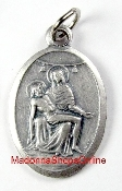 "Pieta Medal Silver Oxidized Pieta 1"" Oval Medallion Charm-The Pietà (1498–1499) is a world-famous work of Renaissance sculpture by Michelangelo Buonarroti, housed in St. Peter's Basilica, Vatican City"