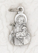 rosary charms Tiny Good Shepherd Charm Silver Bracelet Parts 1.7cm