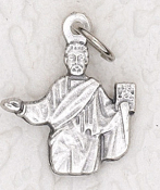rosary charms Tiny Saint Mark Charm Silver Bracelet Parts 1.7cm Italy