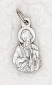 rosary charms Tiny Saint Matthew Charm Silver Bracelet Part 1.7cm Italy