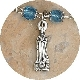 TINY Lady of Lourdes Charm Silver Oxidized medals 2.3cm