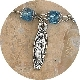 TINY Lady of Guadalupe Charm Silver Oxidized medals 2.3cm