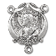 rosary parts, rosaries, Scapular Sterling Silver Rosary Centerpiece Part 1.7cm