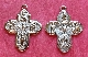 "8 Way Cross Medal with Holy Spirit Silver Plated H-1"" Italy"