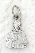 10/Pc Genuine Silver Oxidized Saint Peregrine Medal Italy 1.6cm-Unmatched in quality, beauty, and longevity throughout the world -a Genuine Silver Oxidized Finish with a 3-dimensional depth, and long-lasting brilliance.