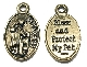 DELUXE Bronze St Francis PET Medal Bless and Protect my Pet