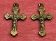 Tiny Bronze Crucifix DOUBLE SIDED 1.7cm Bracelet Part