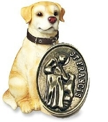 St Francis of Assisi pet medals Cat or Dog Inexpensive Silver Oxidized Catholic Pet Medals with Saint Francis of Assisi and Saint Anthony, Wholesale Bulk Lots and Low Prices Buy Direct and Save