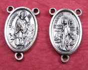 "St Patrick Nickel Silver Rosary Centerpieces 1"" Rosary Parts"