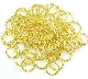 Jump Ring GOLD 7mm x 1.0mm Bulk Packed $2.50/100pcs