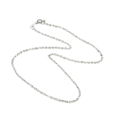 "200/Lot Dazzling Silver Finish Chain 16"" Carded and Polybaged"