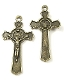Saint Benedict Crucifix Jubilee Cross Bronze Medal 1 3/4""