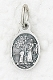 "50/Pkg Tiny Oval Guardian Angel medal Bracelet Charm 1/2"" Italy"
