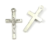 Small Silver Catholic Crucifix Bracelet/Rosary Part 2.1x1.2cm