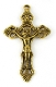 "Gold Antique Crucifix 2"" x 1 1/4"" Rosary Parts or Necklace Jesus"