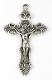 "Silver Antique Crucifix 2"" x 1 1/4"" Rosary Parts or Necklace As Low As $0.65 Each wholesale Catholic crucifixes"