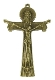 Holy Trinity Cross Bronze Finish Crucifix Large 2 7/8""