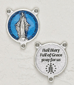 "Deluxe Vintage Madonna and Child Center 1 1/8"" Rosary Centers"