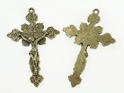 Ornate Vintage Vatican Style Crucifix Bronze Finish 1 3/4""