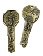 "Saint Benedict Key BRONZE FINISH-1 7/8"" Catholic Saints"