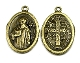 "10/Pc Holy St Benedict Jubilee Medal BRONZE Finish oval 1"" Italy"