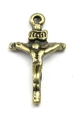 Inexpensive Tiny Crucifix Rosary or bracelet parts-Crucifix Necklace--Rosary Crucifixes Pendant--Crucifix to make rosaries Miniature Bronze Finish Catholic Crucifix Cross 1.6cm x 1.0cm