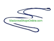 "Blue 24"" Ball Chain Bead 2mm Catholic Medals-Crucifixes"