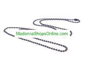 "Purple 24"" Ball Chain Bead 2mm Catholic Medals-Crucifixes"