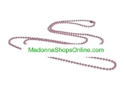 "Pink 24"" Ball Chain Bead 2mm Catholic Medals-Crucifixes"
