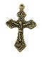 "Bronze Finish Crucifix Cross 1"" x 3/4"" Rosary Bracelet Parts"