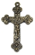 Large Deluxe Holy Trinity Crucifix BRONZE-Crucifix Necklace-Includes jump ring-Rosary Crucifixes Pendant God the Father-Son-Holy Spirit Cross Catholic Religious Christian