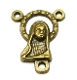 Madonna Bronze Finish Rosary Center Piece 1.8cm-Inexpensive Rosary Centers to make rosaries-- Bronze-Center Piece Rosary parts
