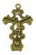 Large Bronze Finish Crucifix Cross 2 1/2 x 1 7/8""